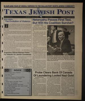 Primary view of object titled 'Texas Jewish Post (Fort Worth, Tex.), Vol. 52, No. 2, Ed. 1 Thursday, January 8, 1998'.