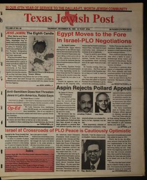 Primary view of object titled 'Texas Jewish Post (Fort Worth, Tex.), Vol. 47, No. 52, Ed. 1 Thursday, December 30, 1993'.