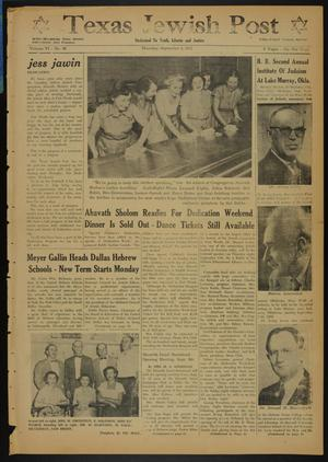 Primary view of object titled 'Texas Jewish Post (Fort Worth, Tex.), Vol. 6, No. 36, Ed. 1 Thursday, September 4, 1952'.