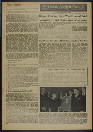 Primary view of object titled 'Texas Jewish Post (Fort Worth, Tex.), Vol. 17, No. 52, Ed. 1 Thursday, December 26, 1963'.