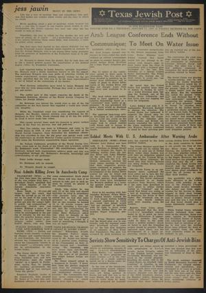 Primary view of object titled 'Texas Jewish Post (Fort Worth, Tex.), Vol. 18, No. 4, Ed. 1 Thursday, January 23, 1964'.