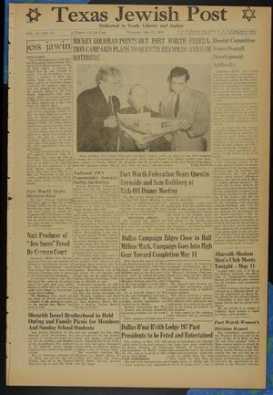Primary view of object titled 'Texas Jewish Post (Fort Worth, Tex.), Vol. 4, No. 10, Ed. 1 Thursday, May 11, 1950'.