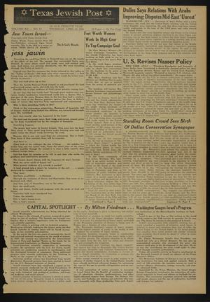 Primary view of object titled 'Texas Jewish Post (Fort Worth, Tex.), Vol. 12, No. 17, Ed. 1 Thursday, April 24, 1958'.