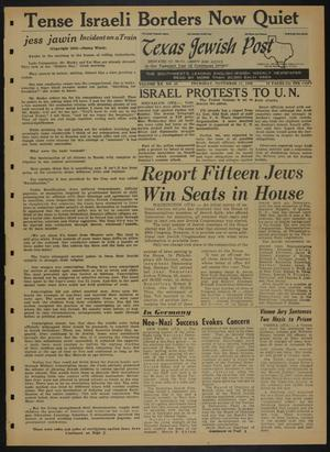 Primary view of object titled 'Texas Jewish Post (Fort Worth, Tex.), Vol. 20, No. 46, Ed. 1 Thursday, November 17, 1966'.