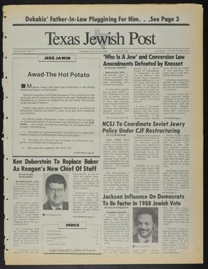 Primary view of object titled 'Texas Jewish Post (Fort Worth, Tex.), Vol. 42, No. 25, Ed. 1 Thursday, June 23, 1988'.