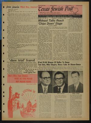 Primary view of object titled 'Texas Jewish Post (Fort Worth, Tex.), Vol. 22, No. 44, Ed. 1 Thursday, October 31, 1968'.