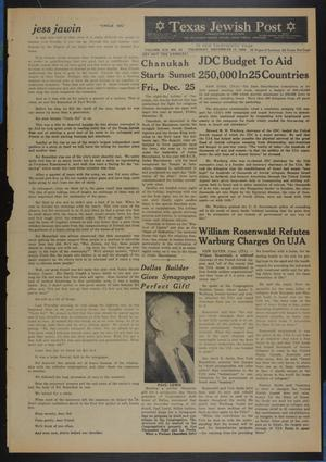 Primary view of object titled 'Texas Jewish Post (Fort Worth, Tex.), Vol. 13, No. 51, Ed. 1 Thursday, December 17, 1959'.