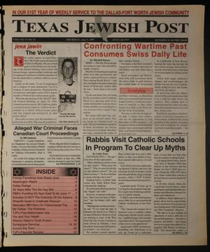 Primary view of object titled 'Texas Jewish Post (Fort Worth, Tex.), Vol. 51, No. 23, Ed. 1 Thursday, June 5, 1997'.
