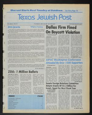 Primary view of object titled 'Texas Jewish Post (Fort Worth, Tex.), Vol. 41, No. 21, Ed. 1 Thursday, May 28, 1987'.