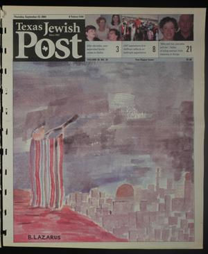 Primary view of object titled 'Texas Jewish Post (Fort Worth, Tex.), Vol. 58, No. 39, Ed. 1 Thursday, September 23, 2004'.