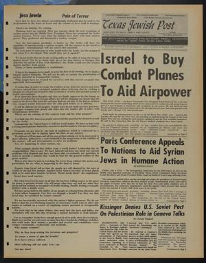 Primary view of object titled 'Texas Jewish Post (Fort Worth, Tex.), Vol. 28, No. 28, Ed. 1 Thursday, July 11, 1974'.