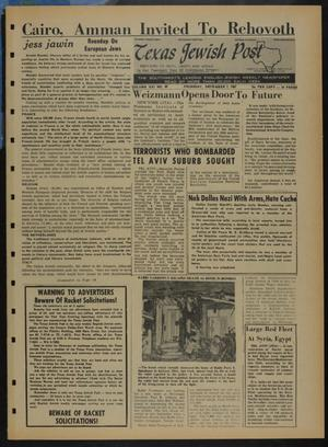 Primary view of object titled 'Texas Jewish Post (Fort Worth, Tex.), Vol. 21, No. 49, Ed. 1 Thursday, December 7, 1967'.