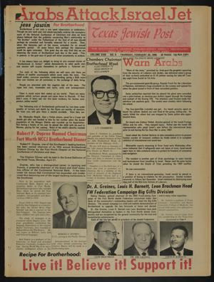 Primary view of object titled 'Texas Jewish Post (Fort Worth, Tex.), Vol. 23, No. 8, Ed. 1 Thursday, February 20, 1969'.