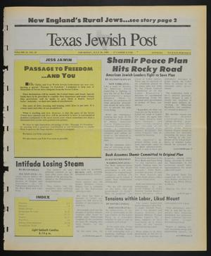 Primary view of object titled 'Texas Jewish Post (Fort Worth, Tex.), Vol. 43, No. 29, Ed. 1 Thursday, July 20, 1989'.