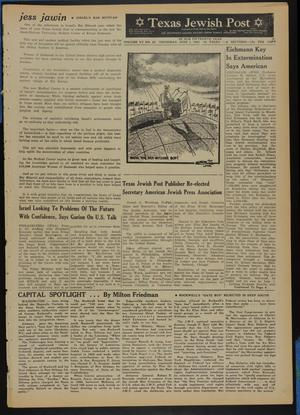 Primary view of object titled 'Texas Jewish Post (Fort Worth, Tex.), Vol. 15, No. 22, Ed. 1 Thursday, June 1, 1961'.