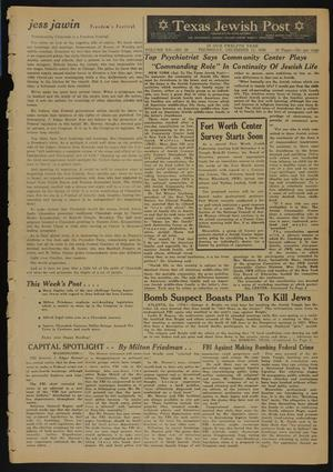 Primary view of object titled 'Texas Jewish Post (Fort Worth, Tex.), Vol. 12, No. 50, Ed. 1 Thursday, December 11, 1958'.