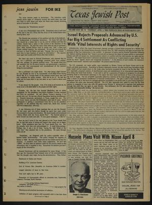 Primary view of object titled 'Texas Jewish Post (Fort Worth, Tex.), Vol. 23, No. 14, Ed. 1 Thursday, April 3, 1969'.