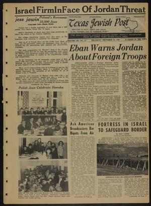Primary view of object titled 'Texas Jewish Post (Fort Worth, Tex.), Vol. 20, No. 52, Ed. 1 Thursday, December 29, 1966'.