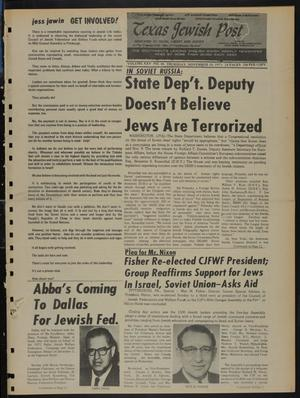 Primary view of object titled 'Texas Jewish Post (Fort Worth, Tex.), Vol. 25, No. 46, Ed. 1 Thursday, November 18, 1971'.