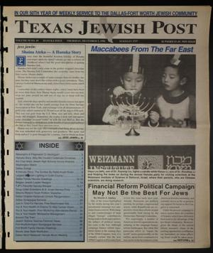 Primary view of object titled 'Texas Jewish Post (Fort Worth, Tex.), Vol. 50, No. 49, Ed. 1 Thursday, December 5, 1996'.