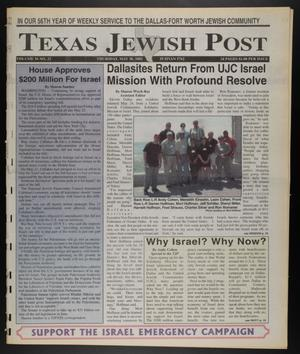 Primary view of Texas Jewish Post (Fort Worth, Tex.), Vol. 56, No. 22, Ed. 1 Thursday, May 30, 2002
