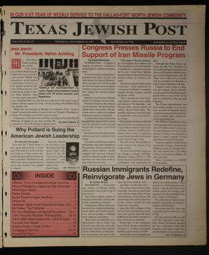Primary view of object titled 'Texas Jewish Post (Fort Worth, Tex.), Vol. 51, No. 47, Ed. 1 Thursday, November 20, 1997'.