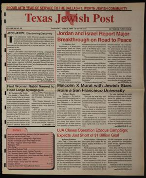 Primary view of object titled 'Texas Jewish Post (Fort Worth, Tex.), Vol. 48, No. 23, Ed. 1 Thursday, June 9, 1994'.