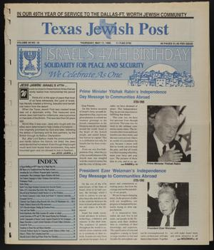 Primary view of object titled 'Texas Jewish Post (Fort Worth, Tex.), Vol. 49, No. 19, Ed. 1 Thursday, May 11, 1995'.