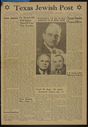 Primary view of object titled 'Texas Jewish Post (Fort Worth, Tex.), Vol. 9, No. 1, Ed. 1 Thursday, January 6, 1955'.