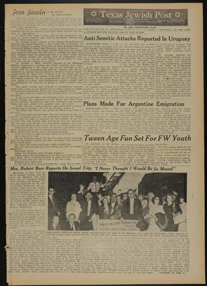 Primary view of object titled 'Texas Jewish Post (Fort Worth, Tex.), Vol. 16, No. 30, Ed. 1 Thursday, July 26, 1962'.