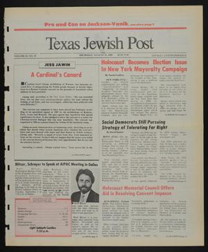Primary view of object titled 'Texas Jewish Post (Fort Worth, Tex.), Vol. 43, No. 35, Ed. 1 Thursday, August 31, 1989'.