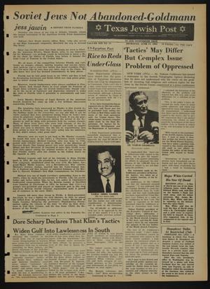 Primary view of object titled 'Texas Jewish Post (Fort Worth, Tex.), Vol. 19, No. 25, Ed. 1 Thursday, June 24, 1965'.