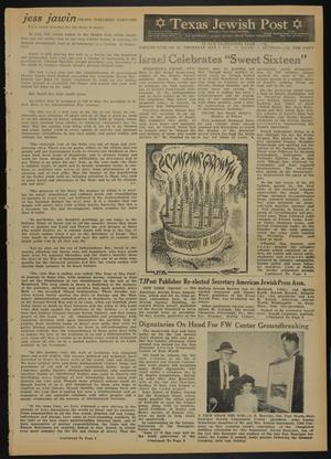 Primary view of object titled 'Texas Jewish Post (Fort Worth, Tex.), Vol. 18, No. 19, Ed. 1 Thursday, May 7, 1964'.