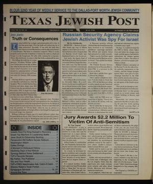 Primary view of object titled 'Texas Jewish Post (Fort Worth, Tex.), Vol. 52, No. 34, Ed. 1 Thursday, August 20, 1998'.
