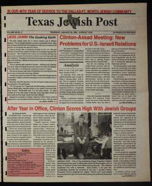 Primary view of object titled 'Texas Jewish Post (Fort Worth, Tex.), Vol. 48, No. 3, Ed. 1 Thursday, January 20, 1994'.