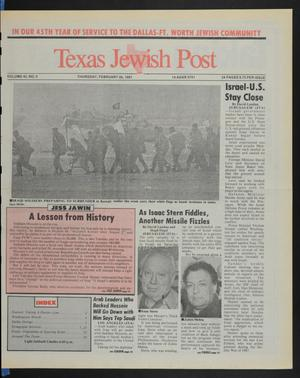 Primary view of object titled 'Texas Jewish Post (Fort Worth, Tex.), Vol. 45, No. 9, Ed. 1 Thursday, February 28, 1991'.