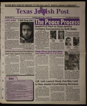 Primary view of object titled 'Texas Jewish Post (Fort Worth, Tex.), Vol. 48, No. 18, Ed. 1 Thursday, May 5, 1994'.