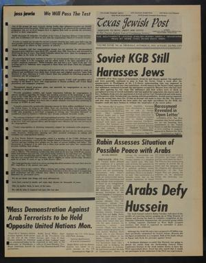 Primary view of object titled 'Texas Jewish Post (Fort Worth, Tex.), Vol. 28, No. 44, Ed. 1 Thursday, October 31, 1974'.