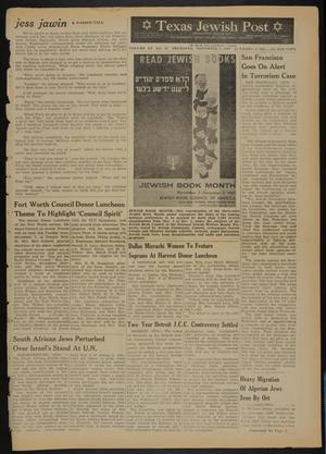 Primary view of object titled 'Texas Jewish Post (Fort Worth, Tex.), Vol. 15, No. 44, Ed. 1 Thursday, November 2, 1961'.
