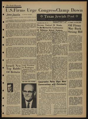 Primary view of object titled 'Texas Jewish Post (Fort Worth, Tex.), Vol. 19, No. 22, Ed. 1 Thursday, June 3, 1965'.