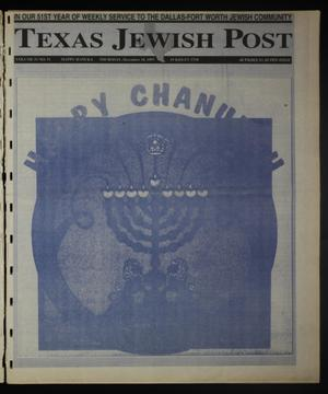 Primary view of object titled 'Texas Jewish Post (Fort Worth, Tex.), Vol. 51, No. 51, Ed. 1 Thursday, December 18, 1997'.