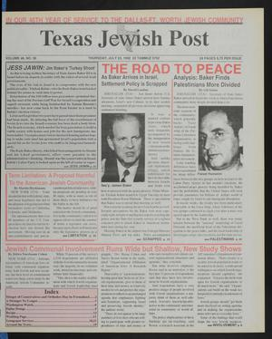 Primary view of object titled 'Texas Jewish Post (Fort Worth, Tex.), Vol. 46, No. 30, Ed. 1 Thursday, July 23, 1992'.