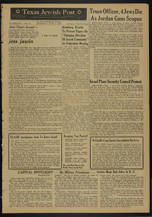 Primary view of object titled 'Texas Jewish Post (Fort Worth, Tex.), Vol. 12, No. 23, Ed. 1 Thursday, June 5, 1958'.