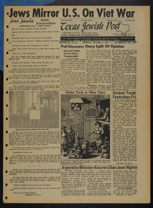 Primary view of object titled 'Texas Jewish Post (Fort Worth, Tex.), Vol. 20, No. 40, Ed. 1 Thursday, October 6, 1966'.