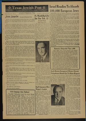 Primary view of object titled 'Texas Jewish Post (Fort Worth, Tex.), Vol. 13, No. 6, Ed. 1 Thursday, February 5, 1959'.