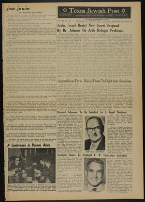 Primary view of object titled 'Texas Jewish Post (Fort Worth, Tex.), Vol. 16, No. 43, Ed. 1 Thursday, October 25, 1962'.