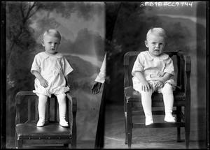Primary view of object titled '[Portraits of Child Sitting]'.