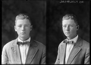 Primary view of object titled '[Portraits of Boy with Bow Tie]'.