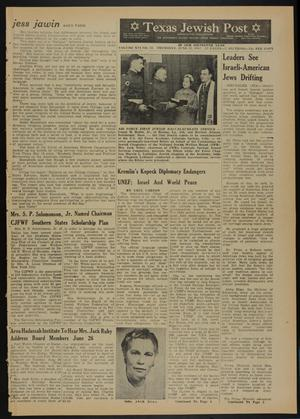 Primary view of object titled 'Texas Jewish Post (Fort Worth, Tex.), Vol. 16, No. 25, Ed. 1 Thursday, June 21, 1962'.