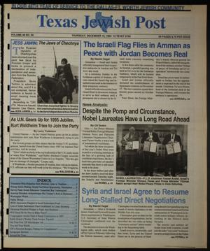Primary view of object titled 'Texas Jewish Post (Fort Worth, Tex.), Vol. 48, No. 50, Ed. 1 Thursday, December 15, 1994'.